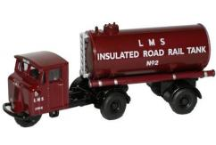 Oxford  1/76 Scammell Mechanical Horse    Tanker Trailer LMS image