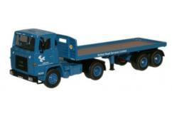 Oxford  1/76 Scania 110 Flatbed Trailer British Road Services image