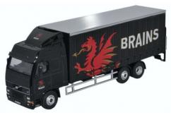 Oxford  1/76 Volvo FH 6 Wheel Curtainside- Brains  image