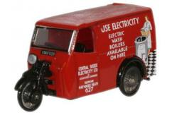 Oxford  1/76 Tricycle Van Electricity image