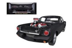 Shelby Collectables 1/18 1965 Shelby GT350R with Drag Racing Engine Matte Black image