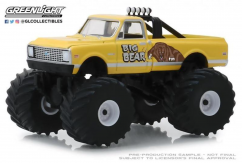 Greenlight 1/64 1972 Chevy C20 Cheyenne Monster Truck - Big Bear image