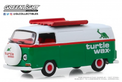 Greenlight 1/64 1972 Volkswagen Type 2 Panel Van - Turtle Wax image