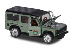 Majorette 1/64 Land Rover Defender Green Deluxe Series image