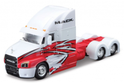 Maisto 1/64 Mack Truck Design Rigs White/Red image