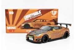 TSM 1/64 Nissan GT-R Metallic Brown Liberty Walk MINI GT image