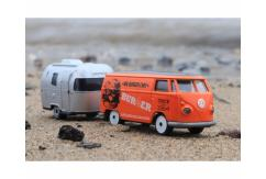 Majorette 1/59 VW Kombi & Trailer +Big Burger Chef+ image