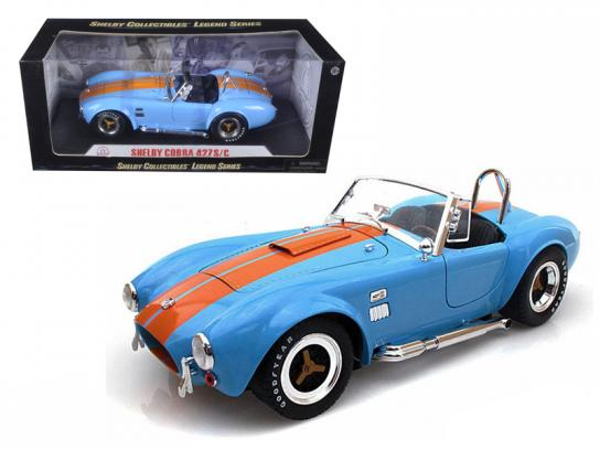 Shelby Collectables 1/18 1965 Shelby Cobra 427 S/C Grabber Blue/Orange image