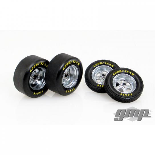 GMP 1/18 1320 Drag Wheel & Tire Pack image