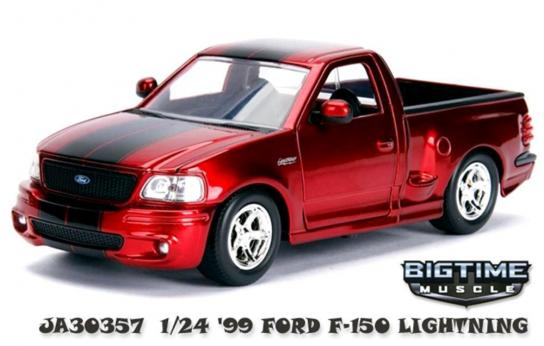 Jada 1/24 '99 Ford F-150 SVT Lightning Big Time Muscle image