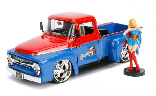 Jada 1/24 '56 Ford F100 with Super Girl Bomb Shells image