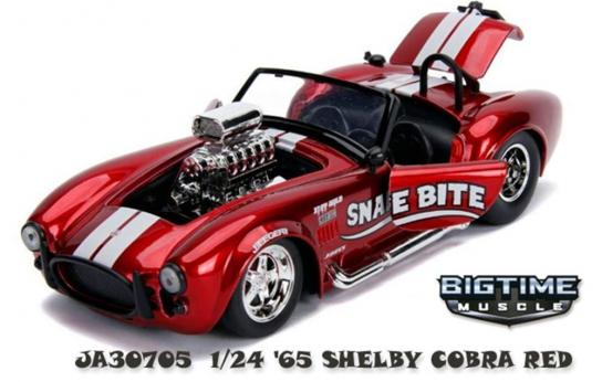 Jada 1/24 Red  '65 Shelby Cobra 427 Big Time Muscle image