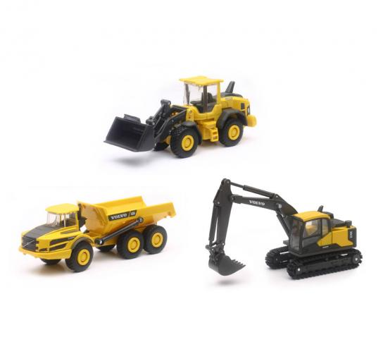 New Ray 1/64 Volvo Construction Set 3 Pieces image