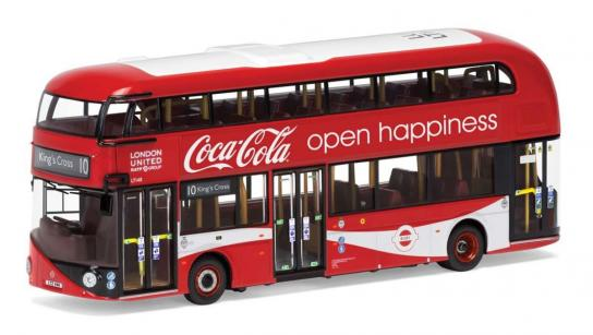 "Corgi 1/76 New Routemaster Bus London United LTZ 1148 ""Coca Cola"" image"