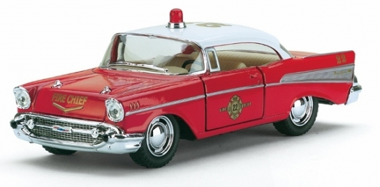 Kintoy 1/40 1957 Chevrolet Bel Air Fire Chief Red/White image