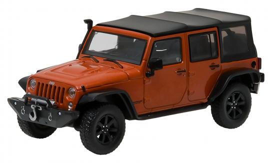 Greenlight Collectables 1/43 2014 Jeep Wrangler with Snorkel Copper image