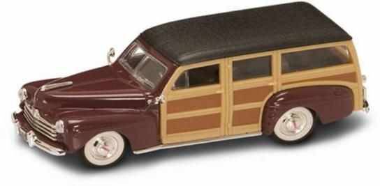 Road Signature 1/43 1948 Ford Woody Wagon Burgundy image