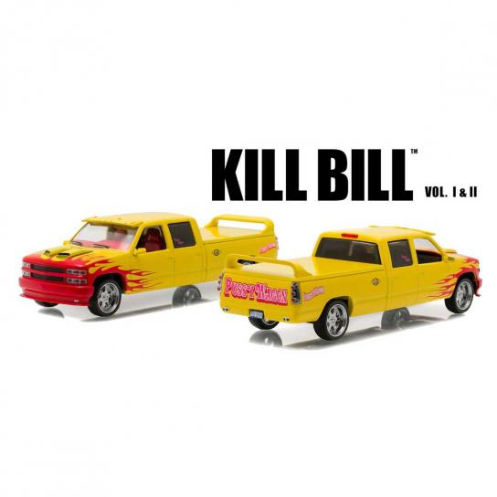 Greenlight 1/43 1997 Custom Crew Cab- 'Pussy Wagon' Yellow/Red Flames image