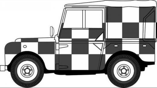 Oxford 1/76 Land Rover Series LL LWB Canvas image