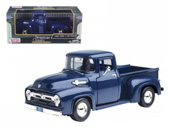 Motormax  1/24 1956 Ford F-100 Pick Up Dark Blue  image