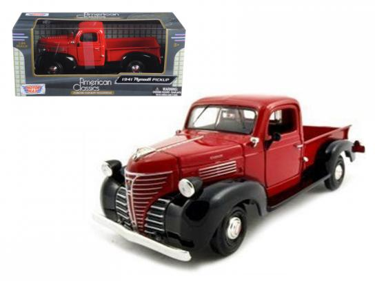 Motormax  1/24 1941 Plymouth Pick Up Truck Red  image