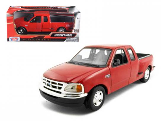 Motormax  1/24 2001 Ford F-150 Flareside Supercab Red  image