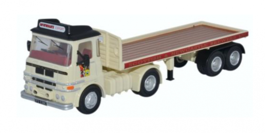 Oxford 1/76 ERF LV Flatbed Trailer - Scottish & Newcastle image