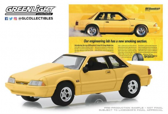 Greenlight 1/64 1988 Ford Mustang 5.0L - BF Goodrich image