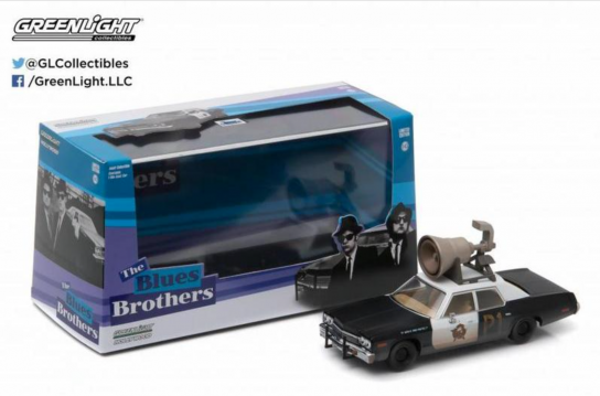 Greenlight 1/43 1974 Dodge Monaco - Blues Brothers with Horn image