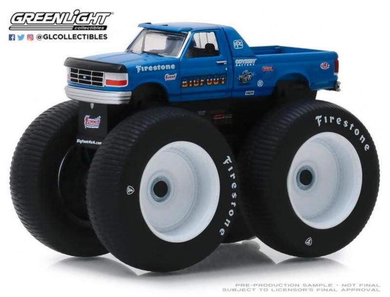 Greenlight 1 64 1996 Ford F 250 Monster Truck Bigfoot Diecastmodels