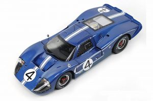 Shelby Collectables 1/18 1967 Ford GT 40 MK IV #4 Blue/White image